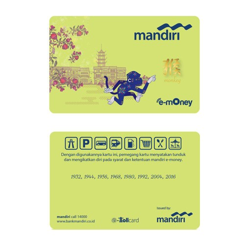Mandiri e-Money Imlek - Monkey