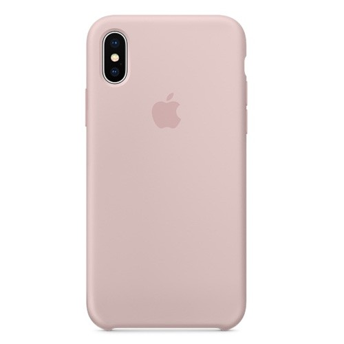 Apple Silicone Case for iPhone X- Pink Sand