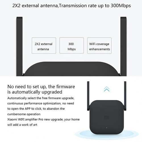 Xiaomi Wifi Extender Pro Repeater Amplifier with 2 Antenna
