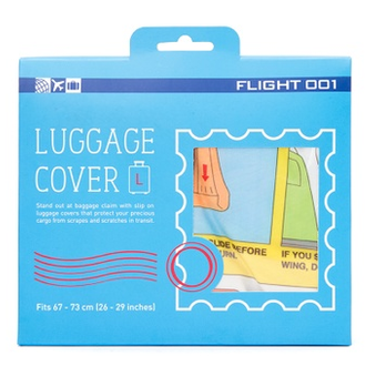 Flight 001 Graphic Luggage Covers Check In, Safety, (L)
