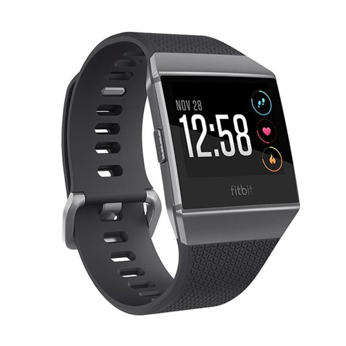 Fitbit Ionic Heart Rate GPS Fitness SmartWatch - Charcoal/Smoke Gray