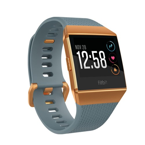 Fitbit Ionic Heart Rate GPS Fitness SmartWatch - Slate Blue/ Burnt Orange