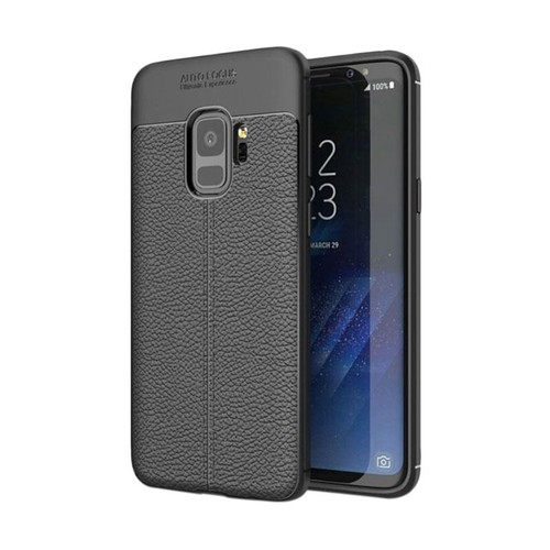 Tunedesign Leather Armor Case for Galaxy S9 - Black