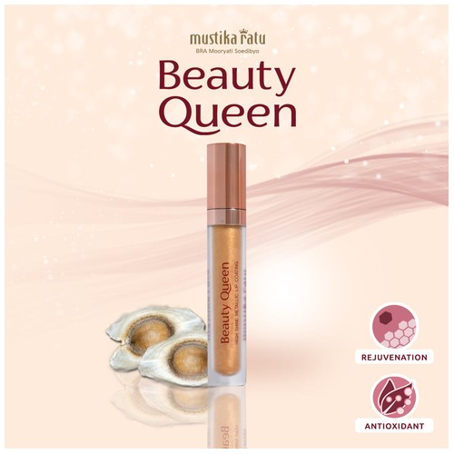 Beauty Queen Coating Metalic Lip Gold