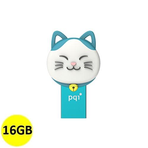 PQI OTG Connect 303 Lucky Cat 16GB - Blue