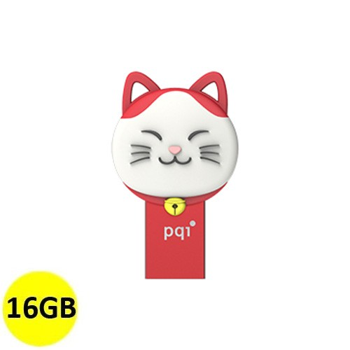 PQI OTG Connect 303 Lucky Cat 16GB - Red