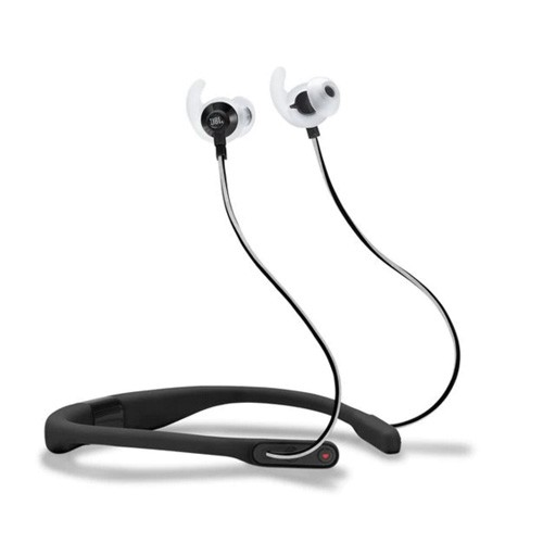 JBL Reflect Fit In-Ear Wireless Headphones with Heart-Rate Monitor - Black