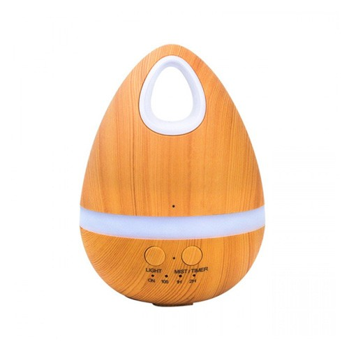 Wooden Egg Air Diffuser Humidifier 7 LED Light 200ml H21 - Brown