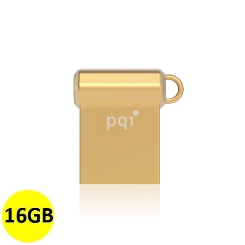 PQI Flash Drive USB 3.0 i-Mini II U838V 16GB - Gold