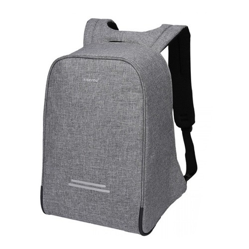 Tigernu Premium Anti-Theft Backpack for Laptop 15.6 Inch with USB Charging Port T-B3213 - Light Grey
