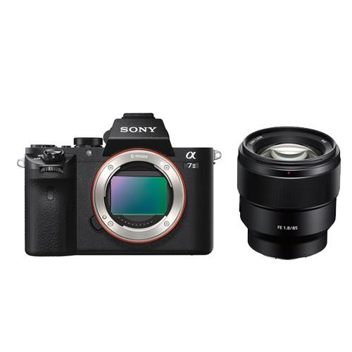 Sony Alpha a7 Mark II Mirrorless Digital Camera with Lensa SEL85F18 - Black