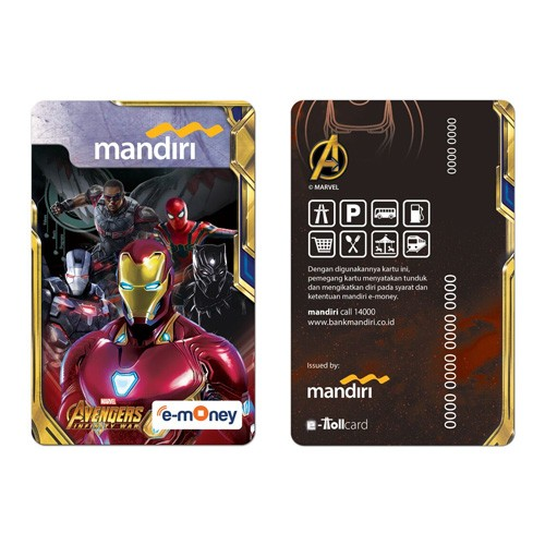 Mandiri e-Money Avengers Infinity War - Iron Man Team