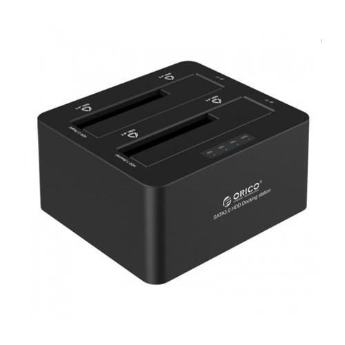 Orico Dual Bay SATA 3.0 to USB 3.0 Docking Station 6629-S3 - Black