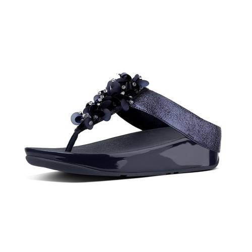 Fitflop Boogaloo Toe Post, Midnight Navy, (7)
