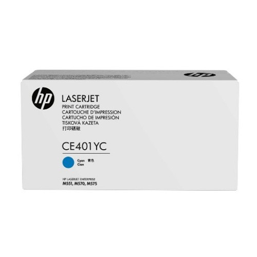 HP 507A Cyan Original LaserJet Toner Cartridge CE401YC