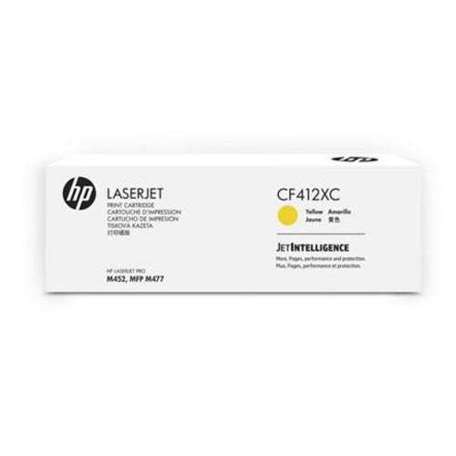 HP 410X LaserJet Yellow Contract Toner Cartridge CF412XC
