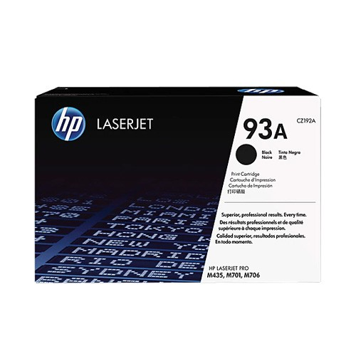 HP 93A Black Original LaserJet Toner Cartridge CZ192AC