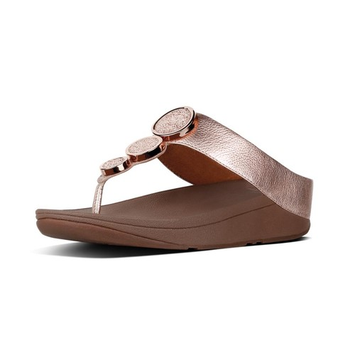 Fitflop Halo Toe Thong Sandals, Rose Gold, (8)