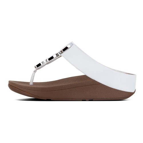 Fitflop Halo Toe Thong Sandals, Urban White, (6)