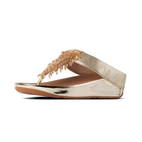 Fitflop Rumba Toe-Thong Sandals, Metallic Gold, (8)