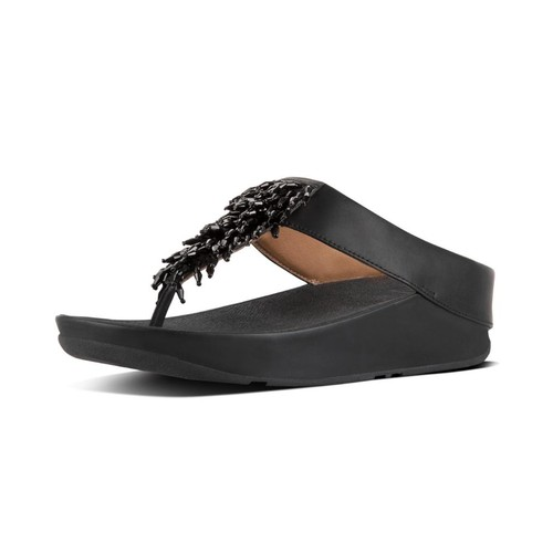 Fitflop Rumba Toe-Thong Sandals - Black, (5)