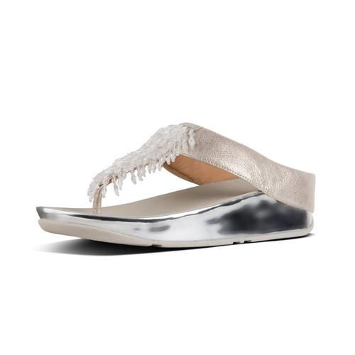 Fitflop Rumba Toe-Thong Sandals - Metallic Silver, (9)
