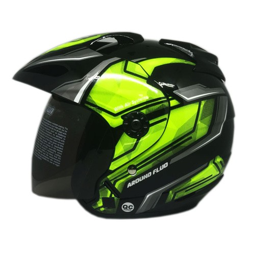 Venom Helm Around - Black Yellow Fluo
