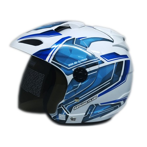 Venom Helm Around - White Blue
