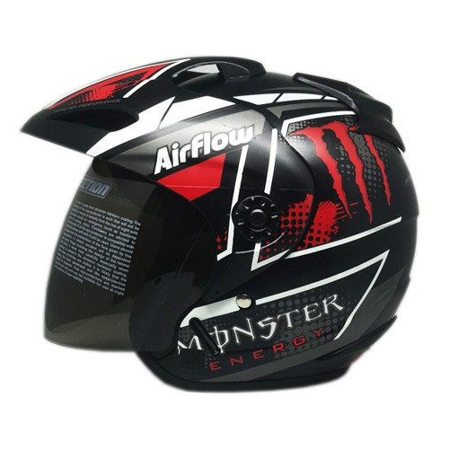 Venom Helm Monster - Black Doff Red