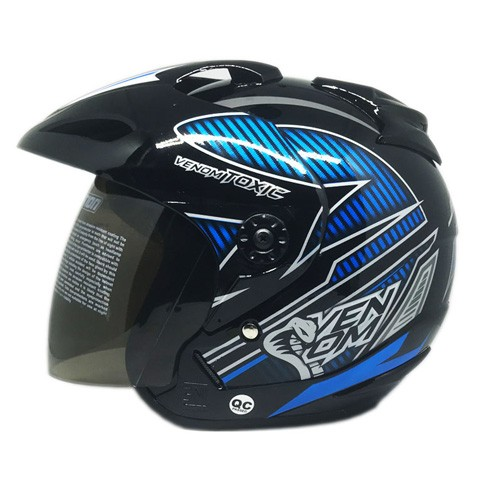 Venom Helm Toxic - Black Blue (Silver)