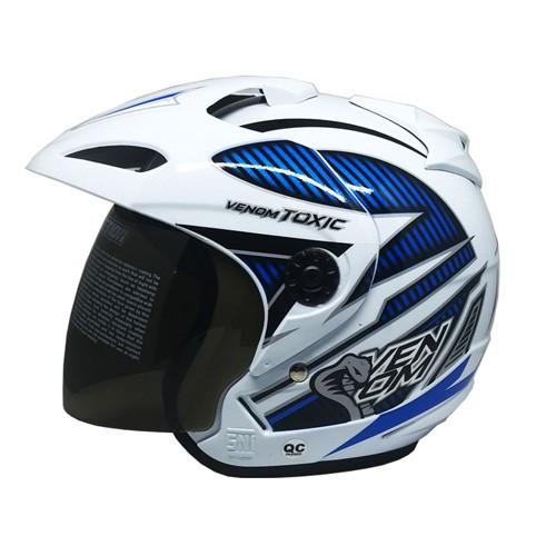 Venom Helm Toxic - White Blue (Black)