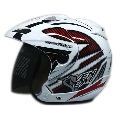 Venom Helm Toxic - White Red (Black)