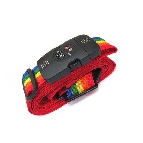 Luggage Strap Belt High Quality 3 Digit PIN with TSA LOCK - Rainbow