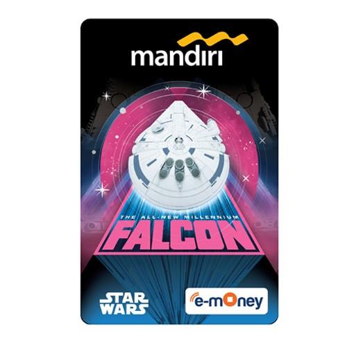 Mandiri e-Money Solo Star Wars - Falcon