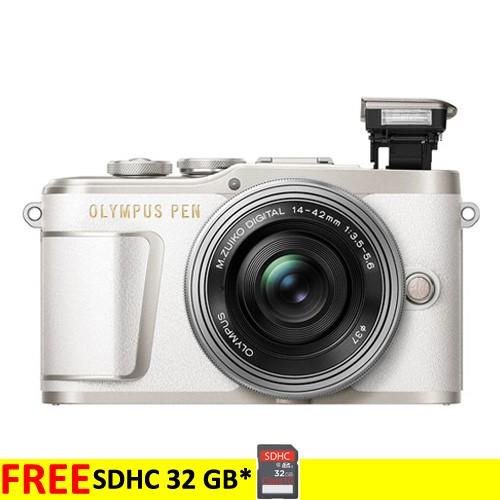Olympus Pen E-PL9 Kit 14-42mm EZ - White + Free SDHC 32 GB