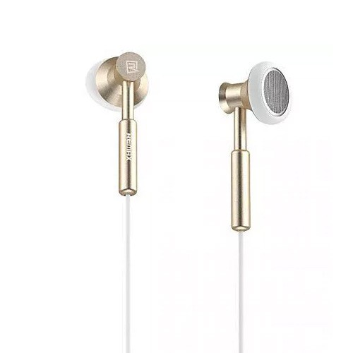 Remax Earphone with Microphone Volume Control RM-305M - Gold