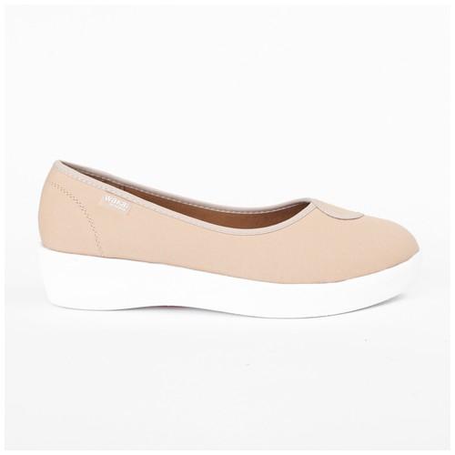 Wakai Plush Basic Nude Sepatu Wedge (WAK0002848.C1490)