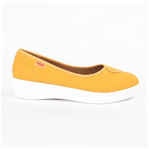 Wakai Plush Basic Mustard Sepatu Wedge (WAK0002851.C3357)