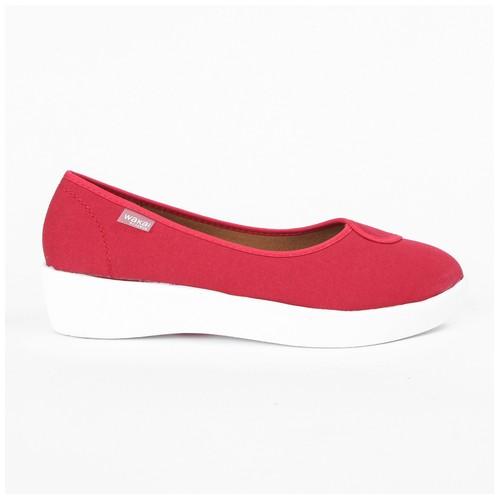 Wakai Plush Basic Red Sepatu Wedge (WAK0002852.A600)