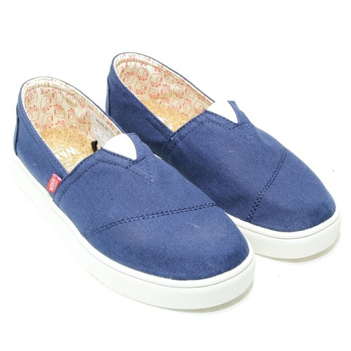 Wakai Hashigo Navy Sepatu Slip On (WAK0002554.C4913)