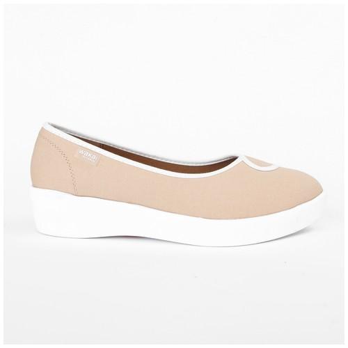 Wakai Plush 2Tone Nude/Offwhite Sepatu Wedge (WAK0002858.ZZ092)