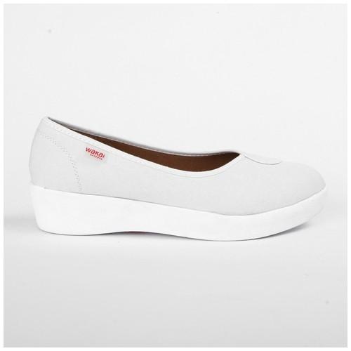 Wakai Plush Basic Offwhite Sepatu Wedge (WAK0002847.C1503)