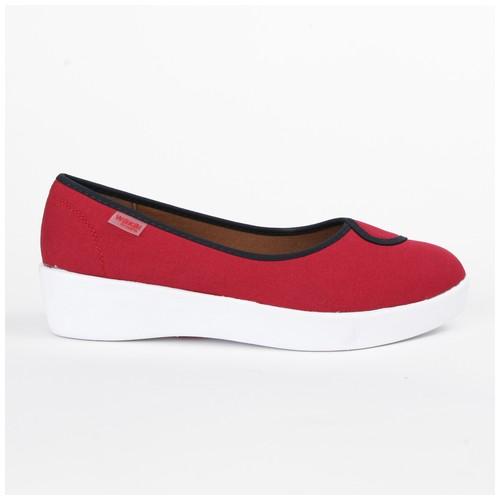 Wakai Plush 2Tone Red/Navy Sepatu Wedge (WAK0002859.C2812)
