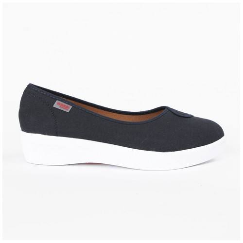 Wakai Plush Basic Navy Sepatu Wedge (WAK0002853.C4913)