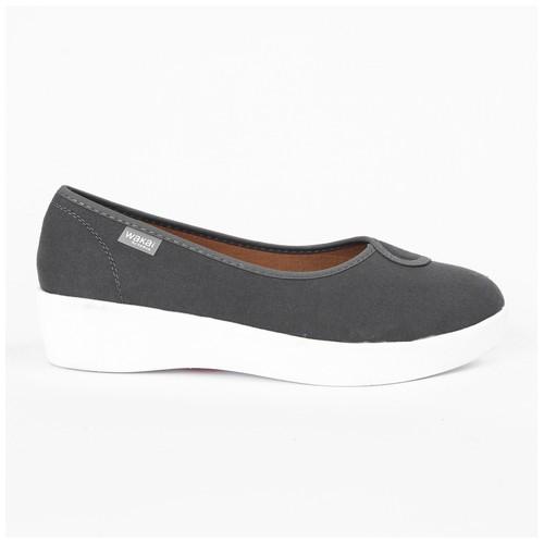 Wakai Plush Basic Dark Grey Sepatu Wedge (WAK0002854.C4631)
