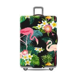 Travel With Us Luggage Cover SIZE S - Flamingo Black