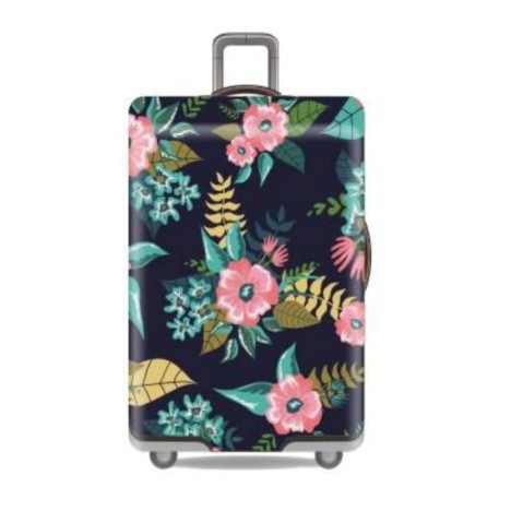Travel withus Luggage Cover SIZE S - Floral Deep Blue