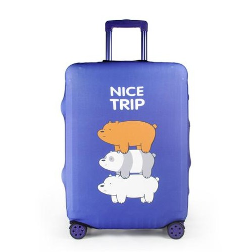 Travel With Us Luggage Cover Size M - Friendship