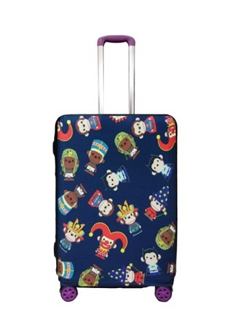 Travel With Us Luggage Cover Size S - Hero Milo