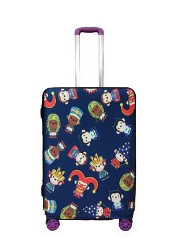 Travel With Us Luggage Cover Size L - Hero Milo